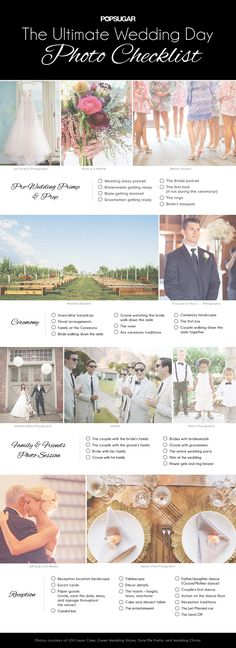 Deciding what pictures you want to see from your wedding? This photo checklist will help you get inspired.