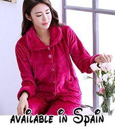 2fbc0df8d1 B075RBG2JC   MH-RITA El otoño y el invierno engrosamiento mujer pijama de  manga larga