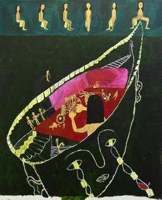 María Bueno, La doma del dibujo, 2012. Acrílico sobre tela. 167 x 135 cm. Cortesía Galería Rafael Pérez Hernando, Madrid. Spanish Art, Crafty, Disney Princess, Disney Characters, Artist, Madrid, Painting, Arch, Exhibitions