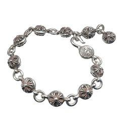 3e8bd66e8cee Chrome Hearts #2 Cross Ball Bracelet Silver 925 Used F/S