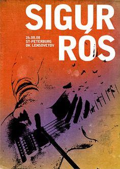 sigur ros music gig posters | Sigur Rós concert posters / 08 on Behance