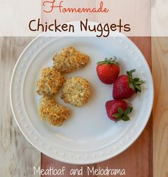 Meatloaf and Melodrama: Easy Homemade Chicken Nuggets with panko breadcrumbs