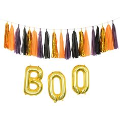 Glam Chic Halloween Decorations Gold Black Plum and Orange  Garland, Balloons and more! Free shipping in the US!