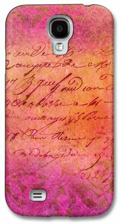 Pink Script Samsung Galaxy S4 Case / Samsung Galaxy S4 Cover for Sale by VIAINA