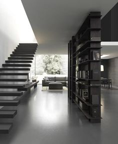 BLADE BOOKCASE,is the new pride and joy of MdHome! An exclusive bookcase comprising u-shaped uprights and horizontal shelves assembled and fitted without hardware. http://www.modulnova.com/contemporary-living #interiordesign #designbookcase #designfurniture