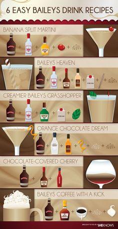 Baileys Coffee with a Kick: 1.5 oz Bailey's Irish Cream + 1 oz Irish whiskey + 6 oz coffee + sugar & whipped cream