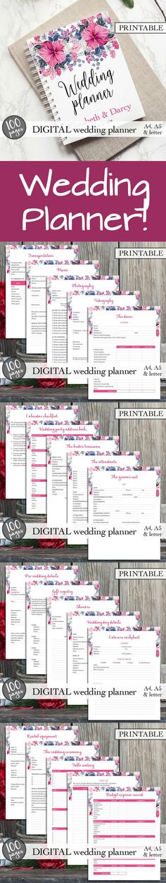 Free Printable Wedding Planner! | Planners + Templates + Printable ...