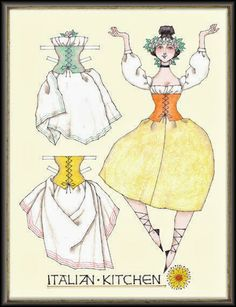 Miss Missy Paper Dolls: Italian Kitchen-by Donald Hendricks
