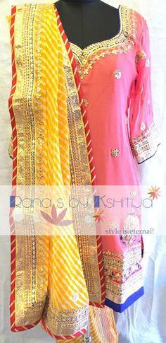 Delicate fresh looks in fine gota Patti work in our favourite jaipuri touch.