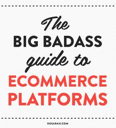I've asked a bunch of badass babe business owners to share what they love and hate about the platforms they use to sell online. #smallbusiness #ecommerce #freelance