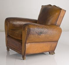 """French Club Chair the fantastic """"Moustache"""" Model created in the 40's"""