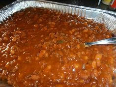 each salt and pepper 1 can pork n beans 1 tsp. garlic powder C. BBQ sauce C. ketchup C. packed brown sugar Brown the ground beef in a dutch oven, drain … Pork And Beans Recipe, Pork N Beans, Baked Beans, Beans Beans, Baked Bean Recipes, Beef Recipes, Cooking Recipes, Amish Recipes, Game Recipes