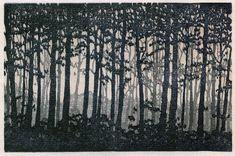 "forest reduction print | reduction linocut, 6"" x 4&quot… | Flickr"