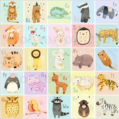 tier abc poster a3 pinterest abc poster babies and kids rooms. Black Bedroom Furniture Sets. Home Design Ideas