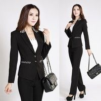 Jag tror du skulle gilla New 2015 Spring Fall Formal Pant Suits for Women Business Suits Blazer Ladies Office Uniform Styles Black Elegant Work Clothes. Lägg till den i din önskelista!  http://www.wish.com/c/54b7cf3db56f0e34fea289ce