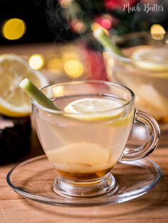 Honey lemongrass ginger tea are perfect for winter, cold weather or rainy seasons! Not only taste really good, but also many health benefits for you. Lemongrass Recipes, Ginger And Honey, Ginger Tea, Alcohol Recipes, Tea Recipes, Curry Recipes, Winter Tea Recipe, Banoffee Pie, Health