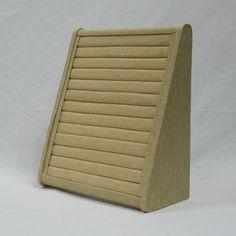 Bandejas y cajas de bisuteria varias : 4151361 EXPOSITOR VERTICAL ANILLO BEIGE 35*30.5*15CM #expositores #relojes #joyas #pulseras #metacrilato #collares #bisuteria #comercio
