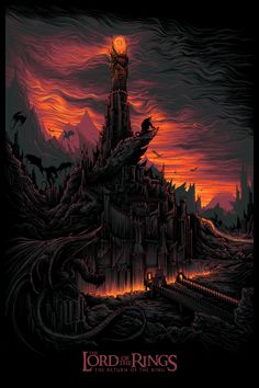 Dan Mumford – The Lord of the Rings Official Print – French Paper Art Club – Geek-Art | Geek Art – Art, Design, Illustration & Pop Culture ! | Art, Design, Illustration & Pop Culture !
