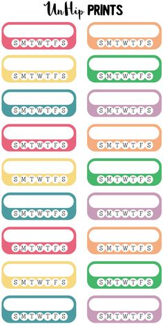 Habit Tracker Planner Stickers Habit Stickers Daily by UnHipPrints