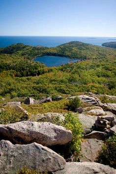 View of The Bowl, Acadia National Park, Maine, USA.