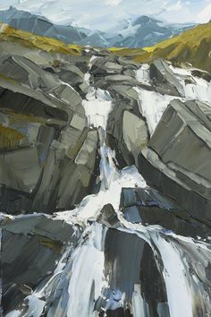 Pallette knife Paintings by Matthew Snowden Landscape Art, Landscape Paintings, Knife Art, Palette Knife Painting, Mountain Paintings, Art Graphique, Belle Photo, Art Oil, Painting Inspiration