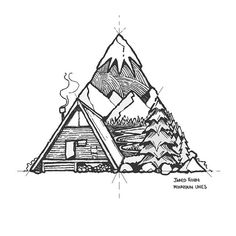 A variation on my previous camping triangle ✍ - original up sale, A5 paper - DM me if interested ✌️#iblackwork @insta_blackwork