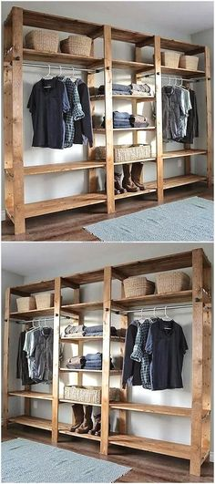 pallets wooden closet #woodworkingprojects
