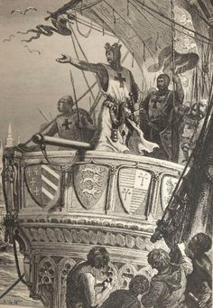 aenglaland:  19th-century depiction of Richard the Lionheart leaving the Holy Land