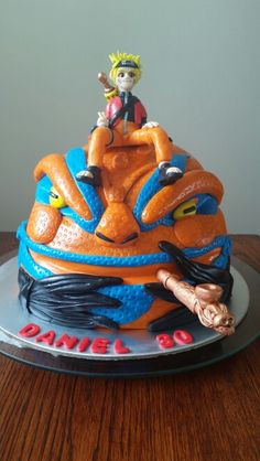 Naruto anime cake for my nephews 30th birthday. All edible and handmade.....he loved it