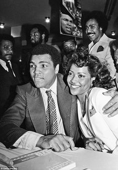 Ali reportedly had countless affairs with a slew of women. He is seen above with his third wife, Veronica Porche, in New York in 1977