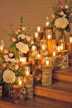 Stunning and elegant January winter barn wedding close to Salem Oregon Tree stump and candle ceremony decor - 25 Best Of Diy Rustic Wedding Decor Concept Rustic Winter Decor, Rustic Wedding Decorations, Birch Decorations, Christmas Decorations, Ceremony Decorations, Elegant Winter Wedding, Winter Weddings, Barn Weddings, Unique Weddings