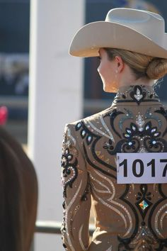 love the pin-stripes in her jacket! (Katz Graphics)