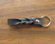 Dragonfly Leather Key Ring Key Fob by GullandValleyLeather on Etsy