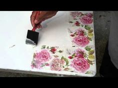 Decoupage tutorial - DIY. How to use Ice resin in decoupage. Imitation ivory. Vintage box. - YouTube