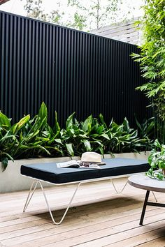 Our courtyard feature in the new Planted Magazine! Planted Magazine – Photographer: Hannah Blackmore – Stylist: Alana Langan - All About Gardens Outdoor Areas, Outdoor Rooms, Outdoor Living, Outdoor Benches, Outdoor Fire, Outdoor Lounge, Fence Design, Garden Design, Patio Design