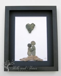 Motivational Pebble Art - COUPLE'S Gift - Personalized Engagement Gift - Sticks and Stones Pebble Artwork - Motivational Gift by SticksnStone on Etsy