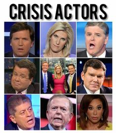 There's evidence that these ppl aren't actually reporting the reality based fact checked unbiased news, but are actually paid tons of money to report Alt-Right propaganda, conspiracy theories, & spew lies to distort the actual news in an attempt to fear & hate monger to the public & spread misinformation & lies among the gullible. These ppl are paid crisis actors reading from a script. They aren't journalists like you've been led to believe. #FoxNewsCrisisActors #PaidToReportPropaganda