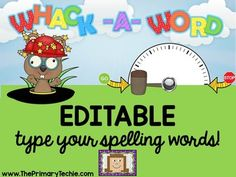 """Whack a Word: This resource is sure to be a HIT with your students! The """"whack-a-mole"""" theme is fun and motivating. Sound effects and animations will keep your kiddos focused and engaged. Word Work Activities, Spelling Activities, Language Activities, Teaching First Grade, First Grade Reading, Teaching Reading, Smart Board Lessons, Kindergarten Worksheets, France"""