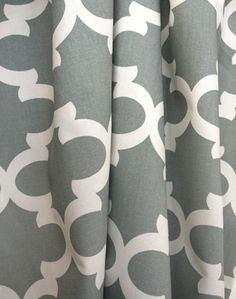 Tiles, Grey-- Master bedroom curtains