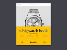 Esquire Launches The Big Watch Book