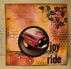 Lenas kort: Joy ride Joy Ride, Mix Media, Distress Ink, Doodles, Blog, Cards, Blogging, Maps, Playing Cards