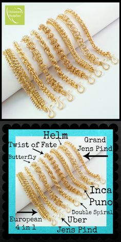 #DIY #Tutorial #kit Brass Chainmaille bracelets #unkamensupplies.com