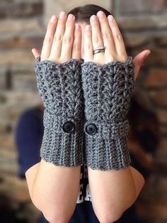 Feminine Lacey Fingerless Glove Crochet Pattern by MadeWithATwist