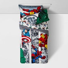 Twin Marvel Avengers Comic Cool Bed In A Bag : Target Twin Comforter, Bedding Sets, Marvel Bedding, Marvel Avengers Comics, Bed In A Bag, Fun Comics, Cool Beds, Black Widow, Colour Images
