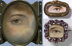 V & A Museum Collection of lovers eye jewelry miniature portraits. http://www.imobsessedwiththis.com/2012/07/06/ill-be-watching-you-history-of-vintage-lovers-eye-jewelry/#