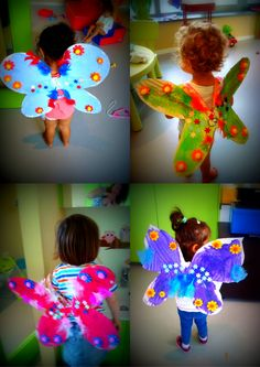 Thema Sprookjes: vleugels maken van een fee/elfje Art For Kids, Crafts For Kids, Arts And Crafts, Fairy Birthday Party, Birthday Parties, Craft Club, Very Hungry Caterpillar, Teaching Art, Peter Pan