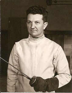 Maestro Charles Schmitter. MSU fencing coach for fifty years and the first American named Master Fencer.