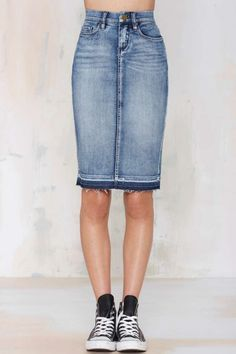 Blank NYC Cry Baby Denim Skirt - Denim | Skirts