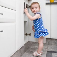 When your little crawler starts taking his first steps, it's not only time to take pictures, but it's time to update your childproofing techniques. Learn what products are must-haves for keeping your tot safe in the house.