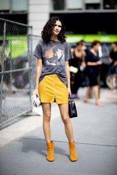 STYLE9|【2017春夏NYコレクション】残暑にぴったり! 大人カジュアルなTシャツスタイル9|エル・ガール・オンライン